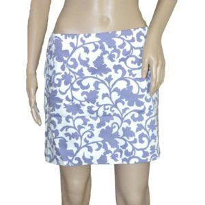 J. Crew Purple & White Cotton Pencil Mini Skirt 4